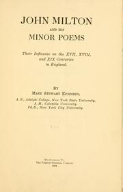 Cover of: John Milton and his minor poems