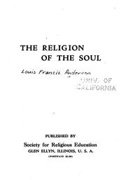 Cover of: The religion of the soul