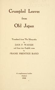 Cover of: Crumpled leaves from old Japan |