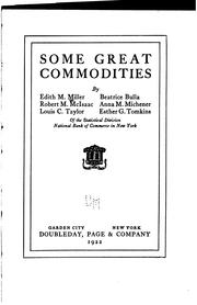 Cover of: Some great commodities