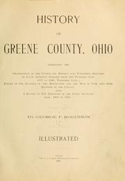 Cover of: History of Greene County, Ohio