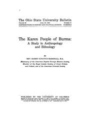 Cover of: The Karen people of Burma | Harry Ignatius Marshall