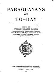 Cover of: Paraguayans of to-day | William Belmont Parker