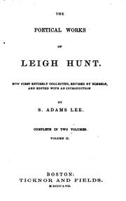 Cover of: The poetical works of Leigh Hunt