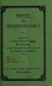 Cover of: History, the Chenoweth family