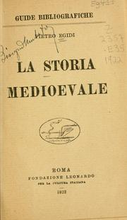 Cover of: La storia medioevale by