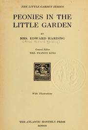 Cover of: Peonies in the little garden