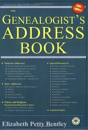 Cover of: The Genealogist's Address Book