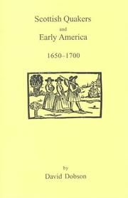 Cover of: Scottish Quakers and early America 1650-1700
