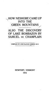 Cover of: How Neshobe came up into the Green Mountains