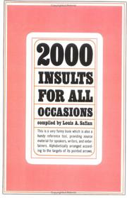 Cover of: Two Thousand Insults for All Occasions | Louis Safian