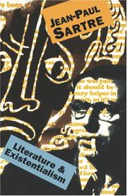 Cover of: Literature And Existentialism | Jean-Paul Sartre