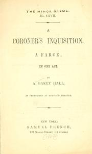 Cover of: A coroner's inquisition