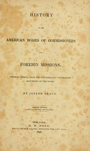 Cover of: History of the American board of commissioners for foreign missions