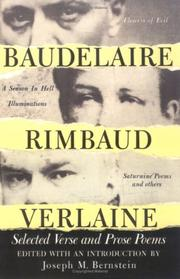 Cover of: Baudelaire, Rimbaud, Verlaine: selected verse and prose poems