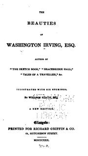 Cover of: The beauties of Washington Irving, Esq. ..