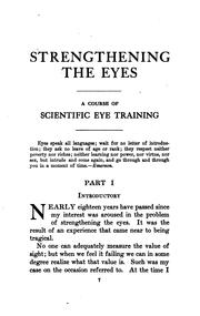 Cover of: Strengthening the eyes