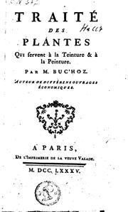 Cover of: Traité des plantes