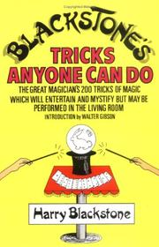 Cover of: Blackstone's Tricks Anyone Can Do