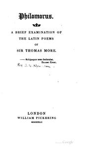Cover of: Philomorus
