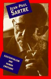 Cover of: Existentialism And Human Emotions (A Philosophical Library Book) | Jean-Paul Sartre