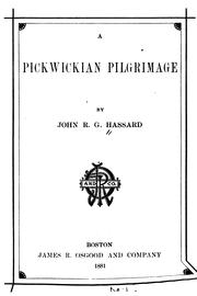 Cover of: A Pickwickian pilgrimage