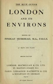 Cover of: London and its environs by Findlay Muirhead