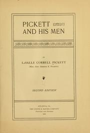 Cover of: Pickett and his men | La Salle Corbell Pickett