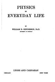 Cover of: Physics in everyday life | Henderson, William D.