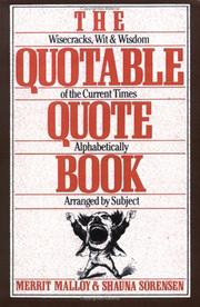 Cover of: The Quotable Quote Book | Merrit Malloy