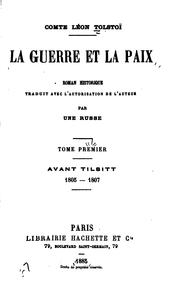 Cover of: La guerre et la paix by Leo Tolstoy