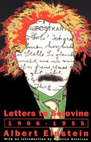 Cover of: Letters to Solovine: 1906-1955