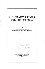 Cover of: A library primer for high schools