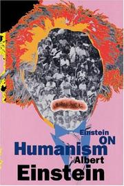 Cover of: Einstein on humanism