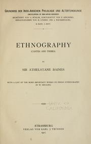 Cover of: Ethnography