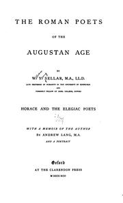 Cover of: Roman poets of the Augustan age | W. Y. Sellar