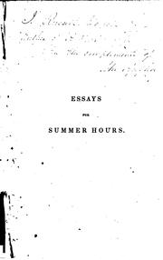 Cover of: Essays for summer hours