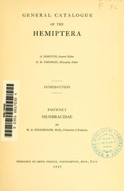 General catalogue of the Hemiptera.