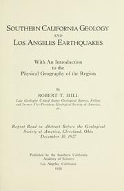 Cover of: Southern California geology and Los Angeles earthquakes