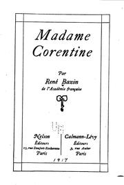 Cover of: Madame Corentine