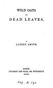 Cover of: Wild oats and dead leaves