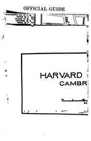 Cover of: Official guide to Harvard University