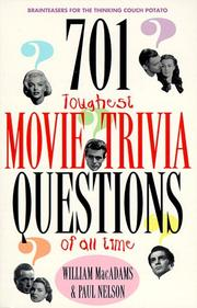 Cover of: 701 toughest movie trivia questions of all time