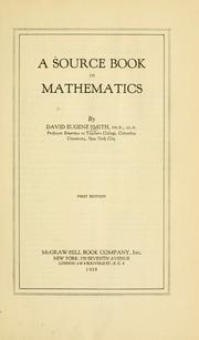Cover of: A source book in mathematics