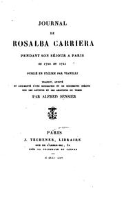 Cover of: Journal de Rosalba Carriera pendant son séjour à Paris en 1720 et 1721