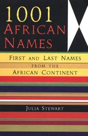 Cover of: 1001 African Names