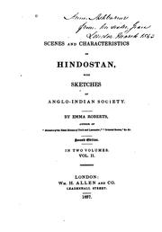 Cover of: Scenes and characteristics of Hindostan