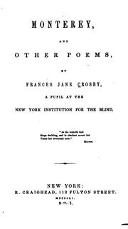 Cover of: Monterey, and other poems