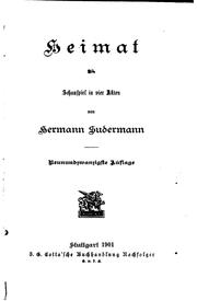Cover of: Heimat: schauspiel in vier akten