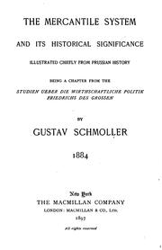 The mercantile system and its historical significance by Gustav von Schmoller